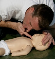 Checking baby breathing